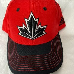 NWOT Adidas unisex red and black Canadian hat